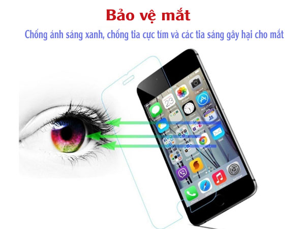 miếng dán màn hình tia xanh bagi 4.7 inch cho iphone 6, 6s