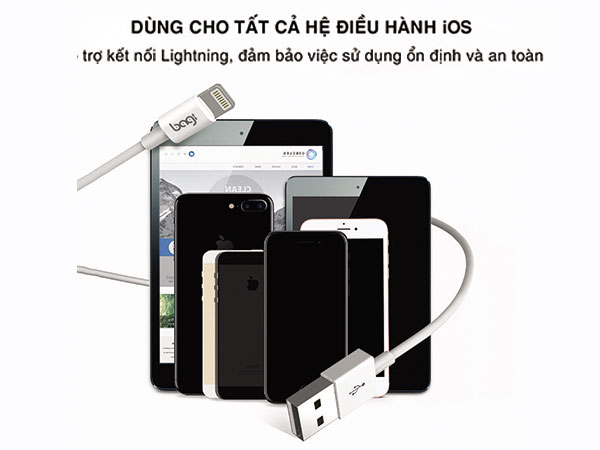 cáp sạc lightning cho iphone, ipod, ipad