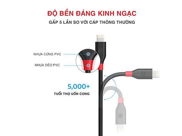 cáp sạc iphone lightning dài 2m bagi cb-ia15n