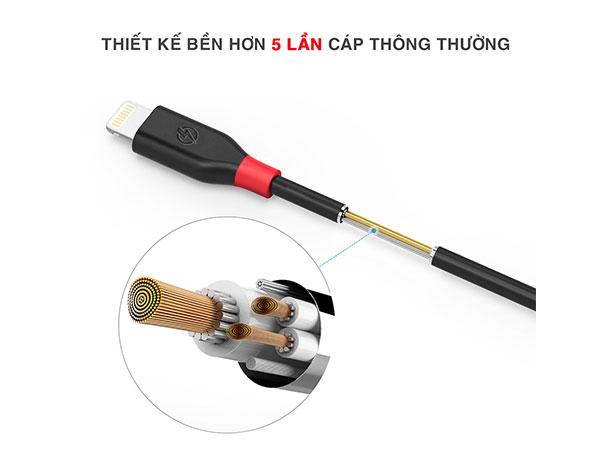 cáp sạc lightning iphone bagi cb-ia15n dài 2m